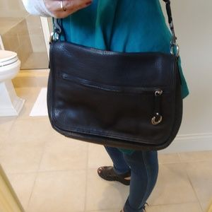 Black Leather Cole Haan Shoulder Bag